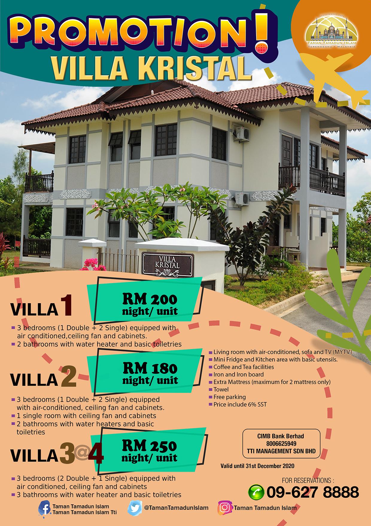 Promosi Villa Kristal